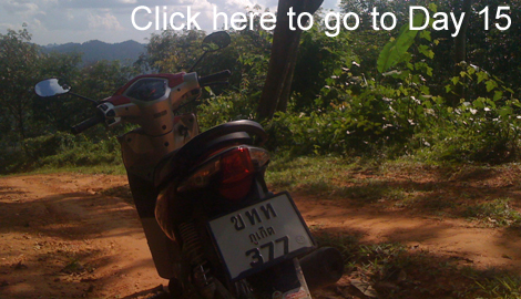 going off road with a honda wave in Thailand