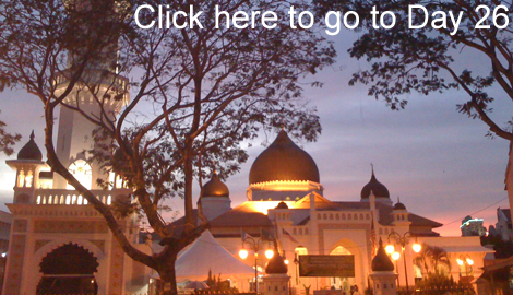 main mosque in georgetown penang at sunset