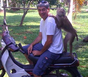 Neale Goldingay @ Monkey training school in Surat Thani