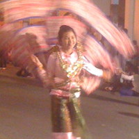 thai girl leading new years parade