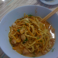 Khao Soi Noodle dish found in the North of Thailand