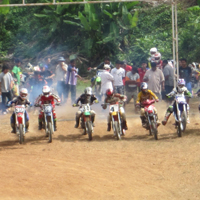 Start of motocross race in Trang Thailand