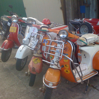 Old vespas in Chiang Mai